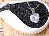 Big Crystal Heart Necklace