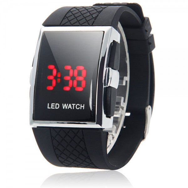 Black Hot Men Women Date Digital Sport LED Wrist Watch