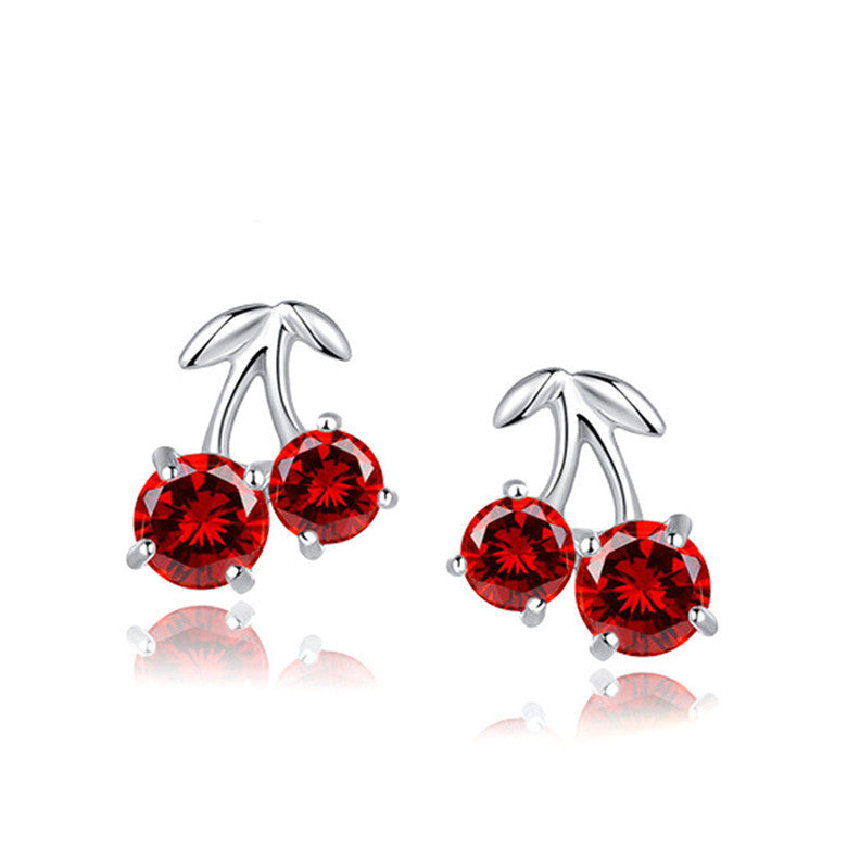 Cherry Earrings in 925 Sterling Silver