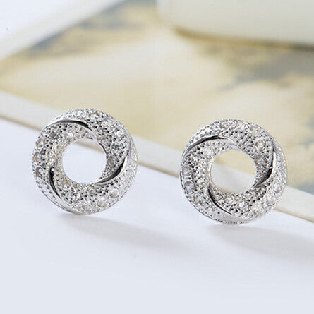 Super Circle Earrings in 925 Sterling Silver