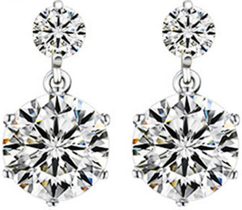 6 Angle Crystal Zircon Drop Earring