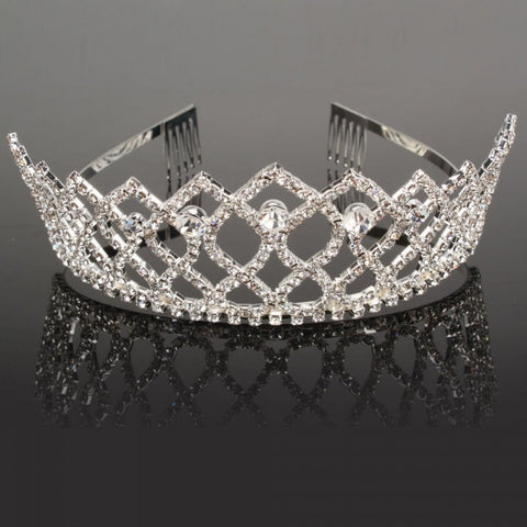Diamond Rhinestone Wedding Bridal Hair Crown Pin Headband Crown Tiara
