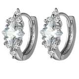 AAA Zirconium Diamond Earrings in silver or gold