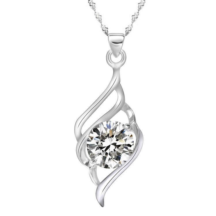 Wing of Angel Zircon Necklace