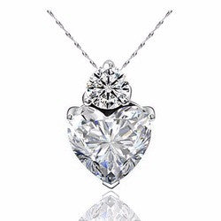 Heart Crystal Pendant Necklace in 3 colors