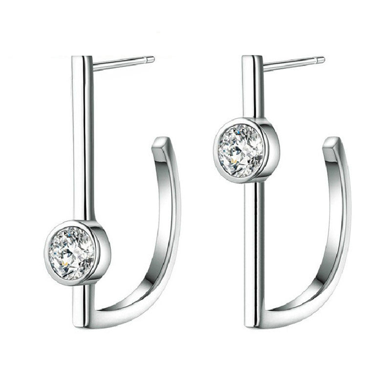 Up and Down CZ 925 Sterling Silver Earrings