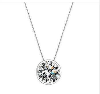 Shining Star CZ in 925 Sterling Silver Necklace