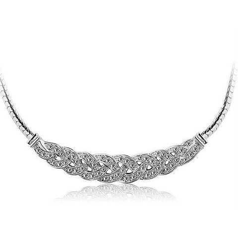 Crystal Choke Necklace in Silver or Gold
