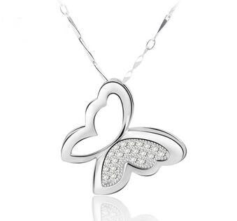 Butterfly in 925 Sterling Silver Necklace
