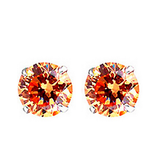6mm 4 Angle Stud Crystal Zirconia Earrings in 4 colors
