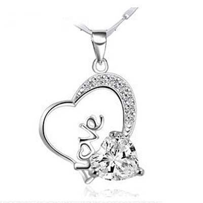Heart full of Love 925 Sterling Silver Necklace - 2 color choices