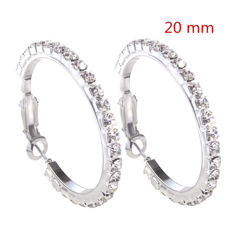 Full Diamond Ring Earrings in 3 sizes