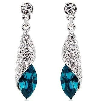 Blue Conch Earrings in 925 Sterling Silver