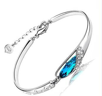 Blue Conch/Teardrop 925 Sterling Silver Bracelet