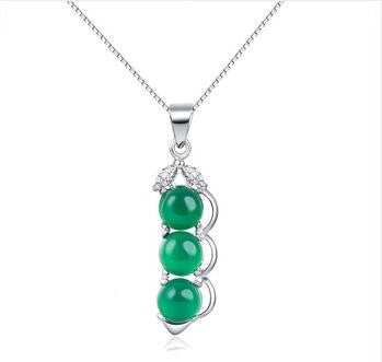 3 Peas in a Pod  925 Sterling Silver Necklace