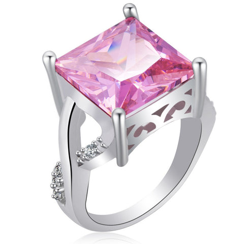 Big Square CZ Ring in 2 colors