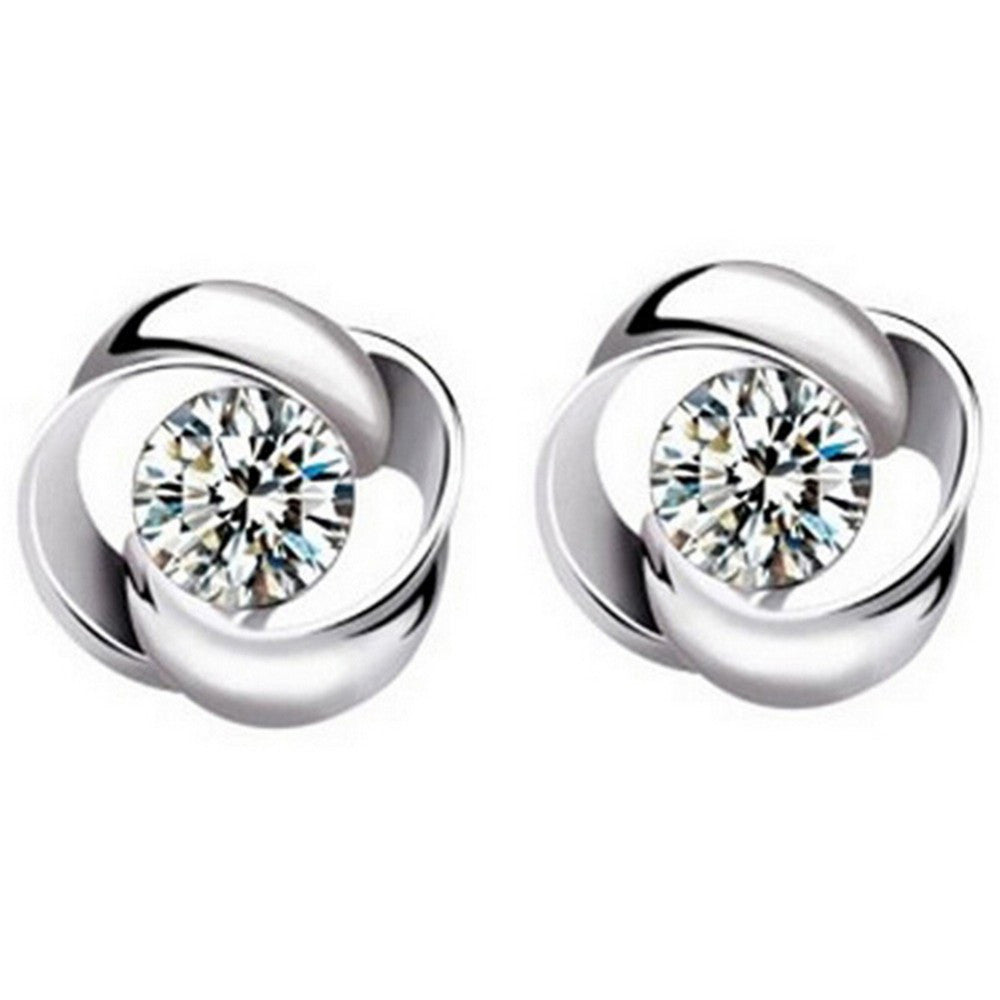 Revolve Love Crystal Zirconia Earrings