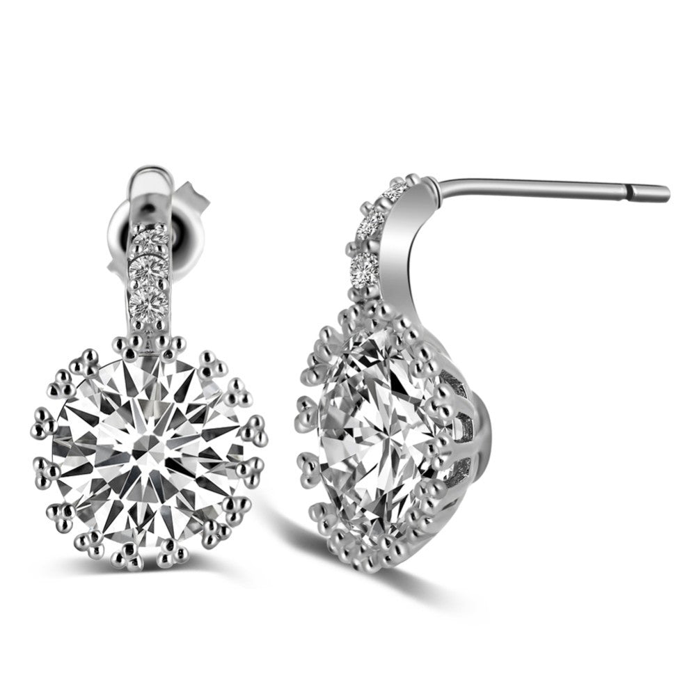 Drop Solitaire Earrings