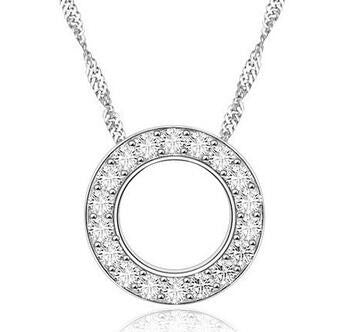 AAA Eternity 925 Sterling Silver Necklace