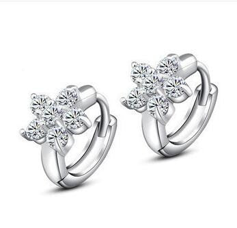 Flower/Snowflake Earrings in 925 Sterling Silver
