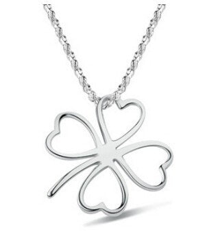 Hollow Four Leaf Clover Necklace