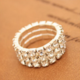 Diamond One Size Ring