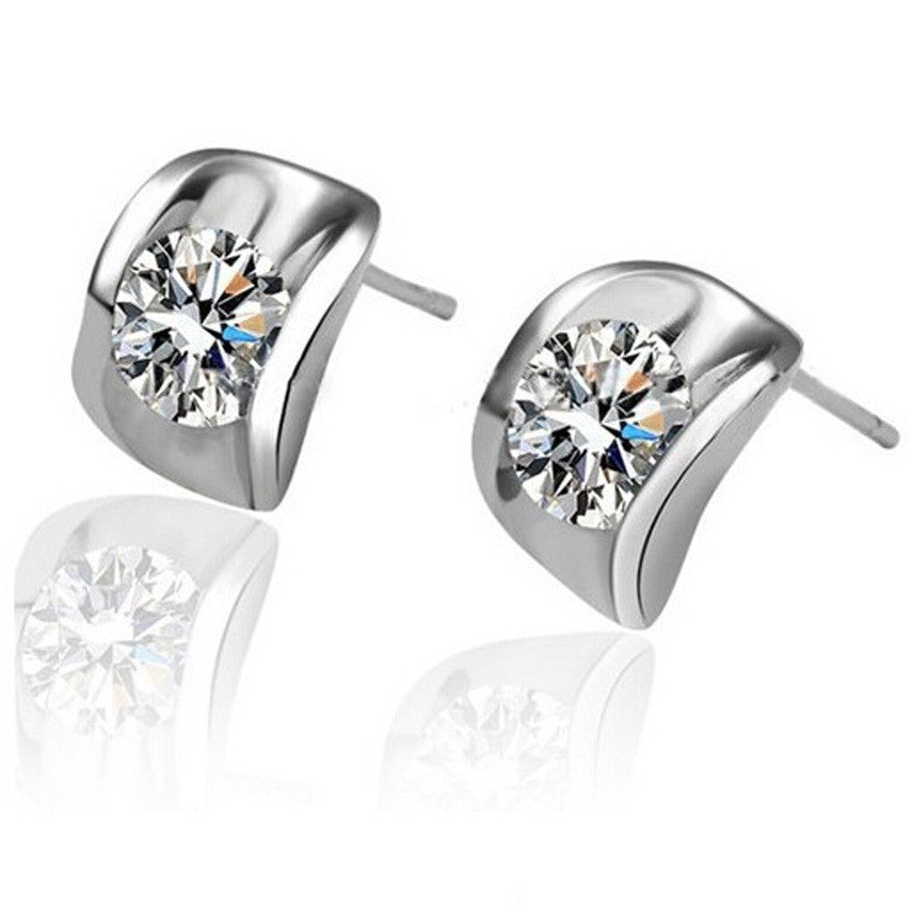 Pea in the Pod Crystal Zirconia Earrings