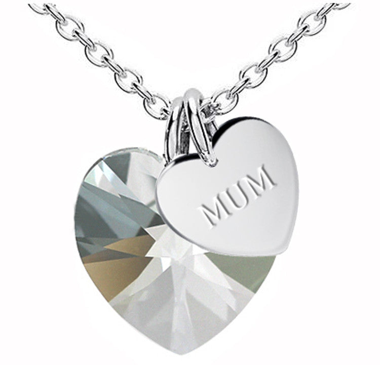 MUM Mother's Day Heart Gift Pendant