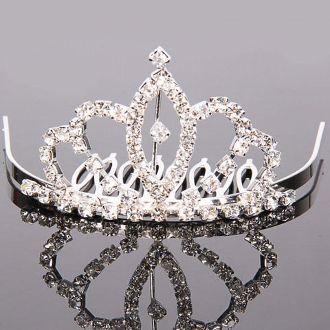 Medium Rhinestone Crown Comb Hair Clip Tiara