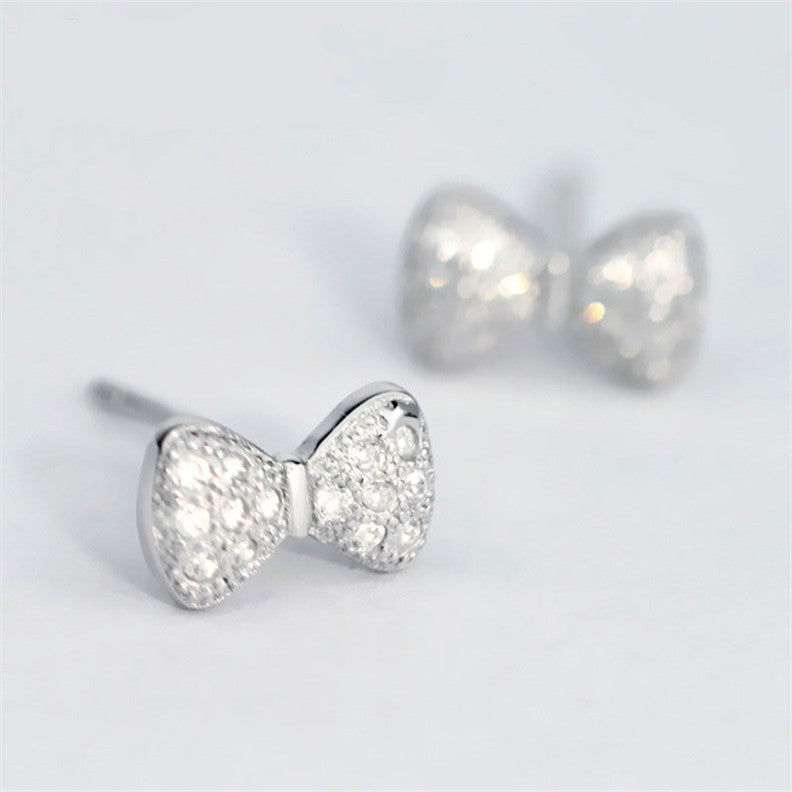 Shiny Bows Earrings in 925 Sterling Silver