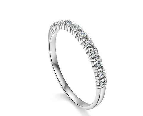 12 Rounds CZ 925 Sterling Silver Ring