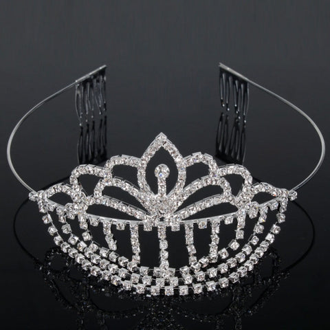Pendant Rhinestone Wedding Bridal Headband Crown Tiara
