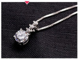 Pipa Pendant Zirconia Necklace