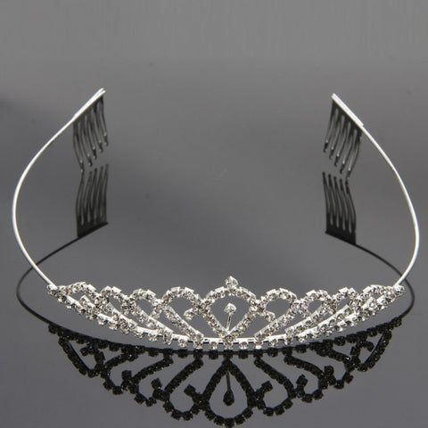 Pretty Shining Rhinestone Crown Headband Tiara