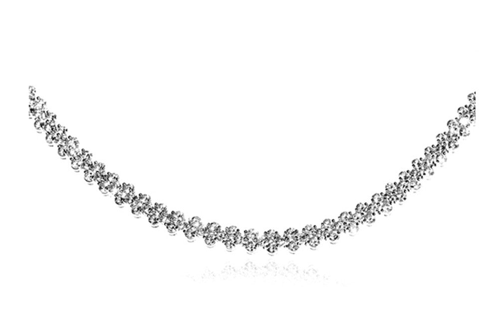 White Gold Plated Rome Necklace Crystal Necklace