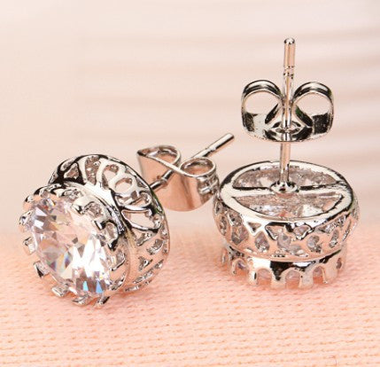 Sunflower Crystal Zircon Earring