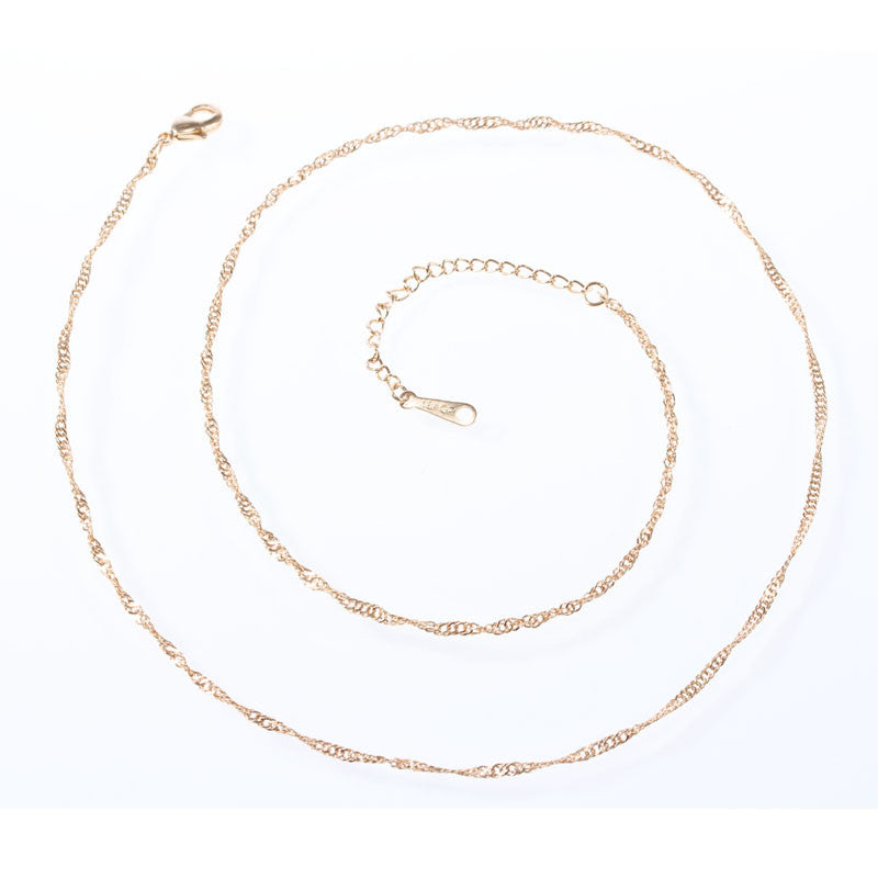 Water Wave Chain in Silver or Gold