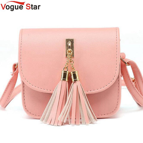 Tassel Messenger Shoulder Handbag - 4 colors