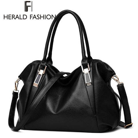 Leather Shoulder Hobo Handbag - 6 colors