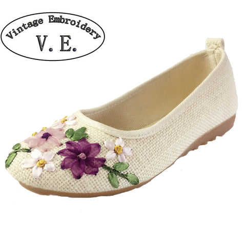 Vintage Embroidery Flats - 15 colors