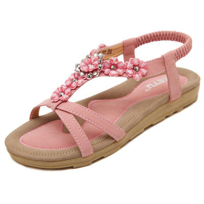 Bohemia Beaded Sandals - 2 colors