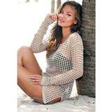 Beach Tunic Hand Crochet Cover Up Dress - 3 colors