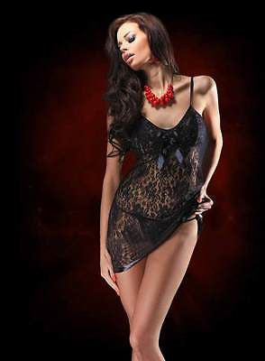 Lace Dress Babydoll G-string Underwear - 3 colors