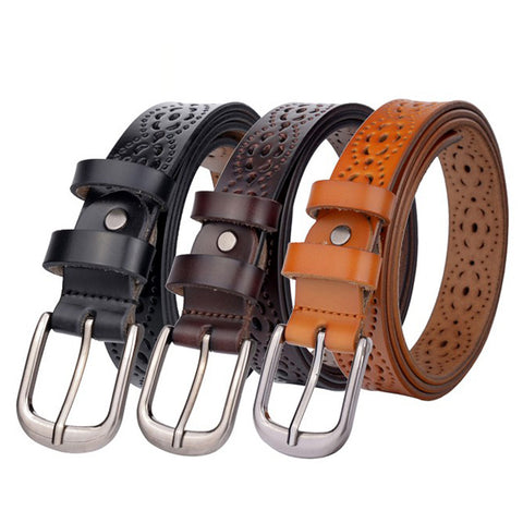 Women belt genuine leather - 6 colors