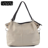 PU Leather Shoulder Crossbody Handbag - 5 colors, 2 sizes