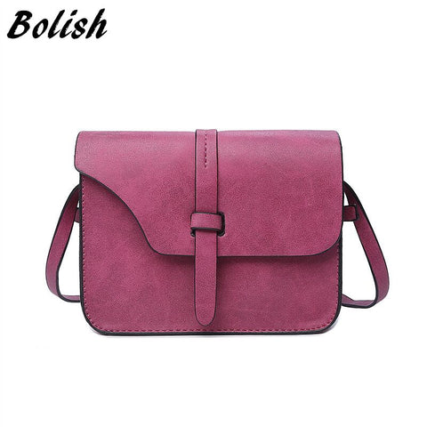 Small Crossbody Shoulder Leather Handbag - 3 colors