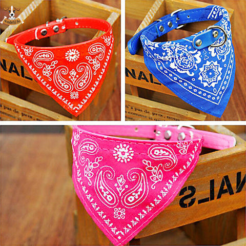 Adjustable Bandanna Neckerchief Pet Collar - 7 colors