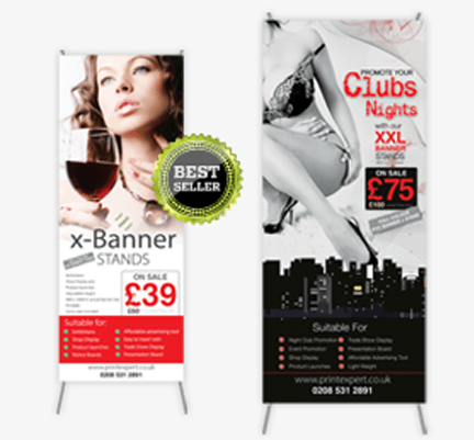 X banner Stands 1000mm x 2000mm - printexpert.co.uk