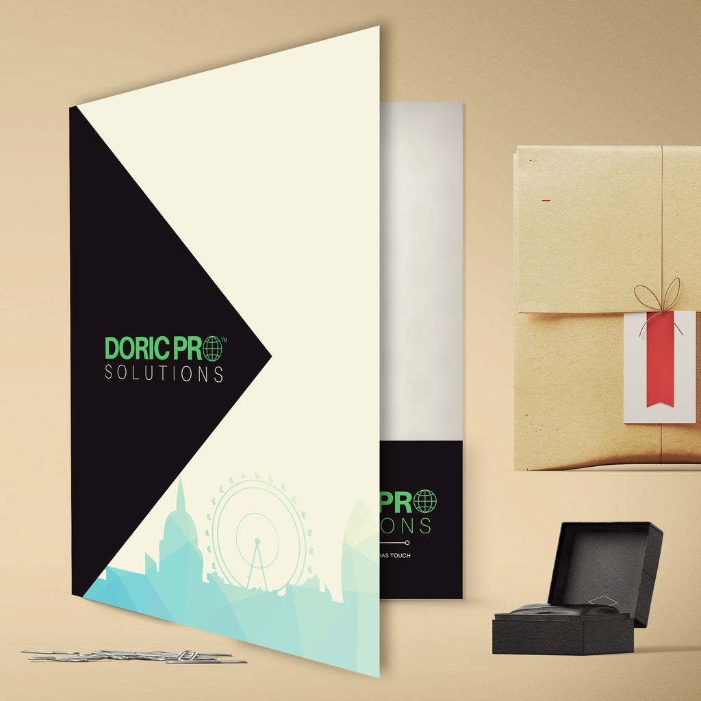 A4 Presentation Folders 350gsm Gloss Laminated