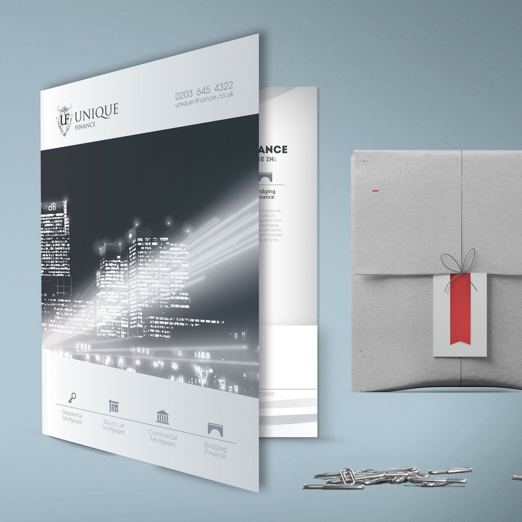 A5 Presentation Folders 400gsm Matt Lamination to Front Only